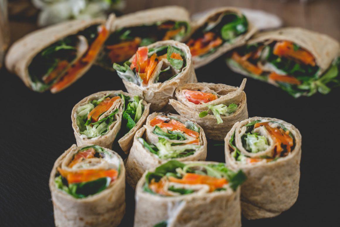 Veganer Räucherlachs - im Wrap angerichtet
